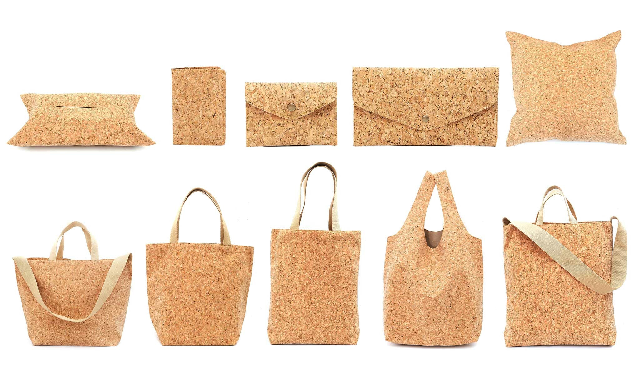 Cork Eco / Vegan Friendly Sustainable Handmade Bags Wallets Passport Cover Tote Bags