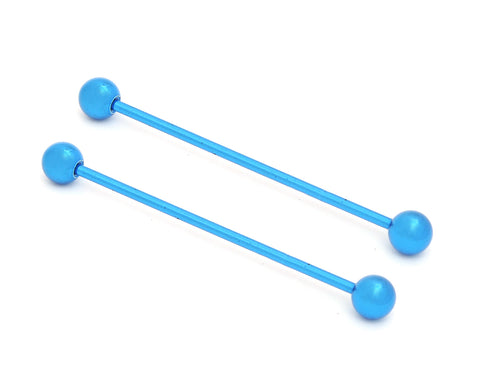 1 Blue Stainless Steel Internally Threaded Industrial Barbell Ear Piercing Body Piercing Jewelry