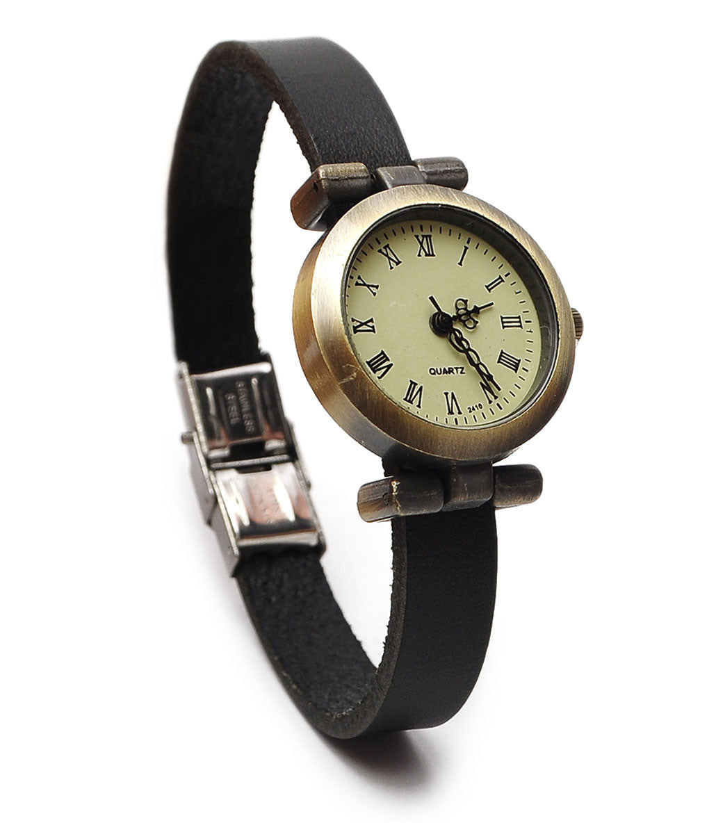 New Women Original Vintage Fashion Bracelet Real Leather Quartz Wrist Watch
