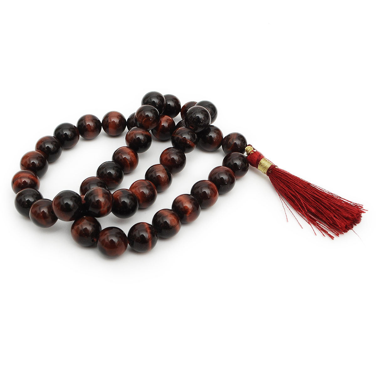 Mala Beads 10mm Natural Gemstones Round Beads Necklace 16' inches Long Crystals