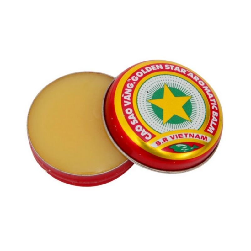 10 Golden Star Aromatic Tiger Balm Vietnamese Cao Sao Vang Ointment Cream 4g 1
