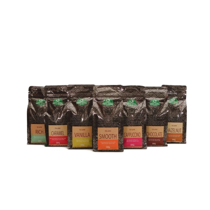 Phuc Long Ground Coffee - Vietnamese Drip Brew Ca Phe Flavored Coffee 200 Grams