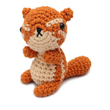 Brown Squirrel Handmade Amigurumi Stuffed Toy Knit Crochet Doll VAC