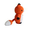 Orange Adorable Mister Fox Handmade Amigurumi Stuffed Toy Knit Crochet Doll VAC