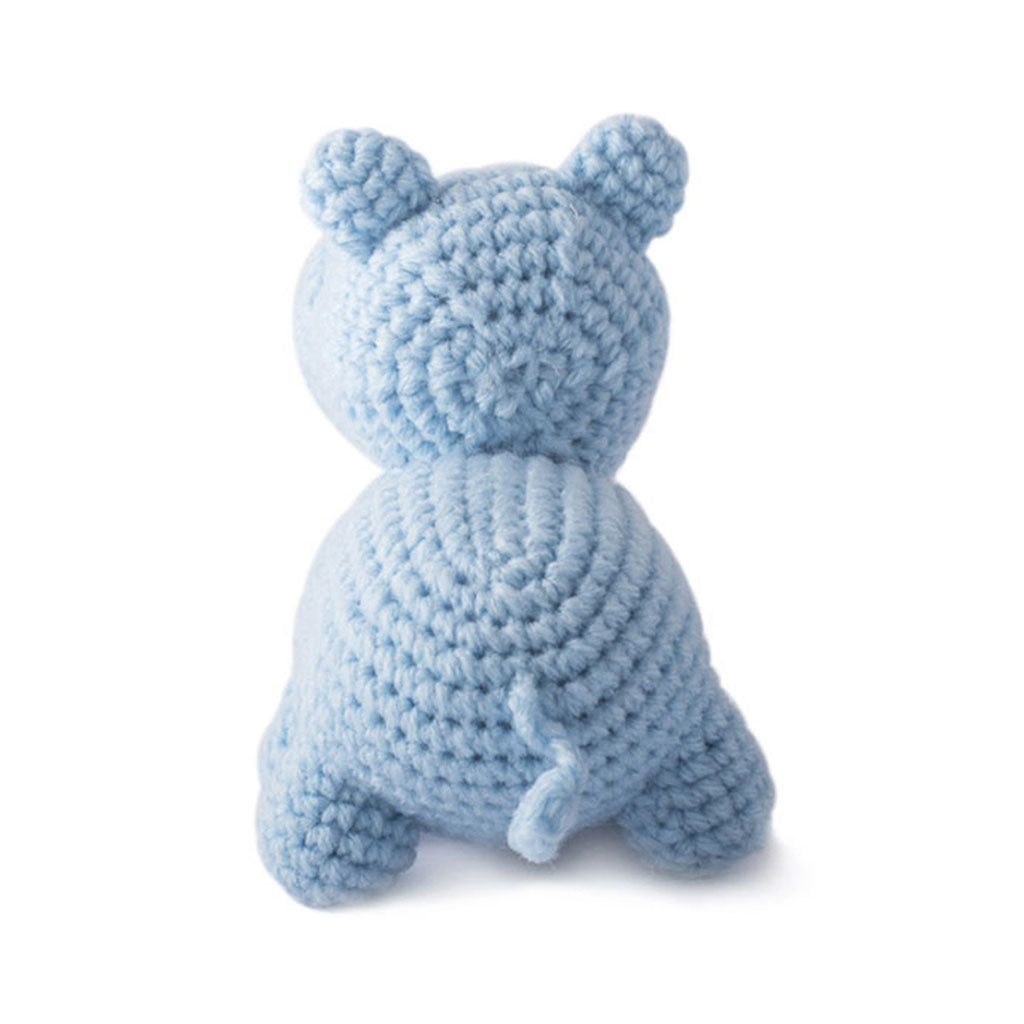 Blue Hippo Handmade Amigurumi Stuffed Toy Knit Crochet Doll VAC