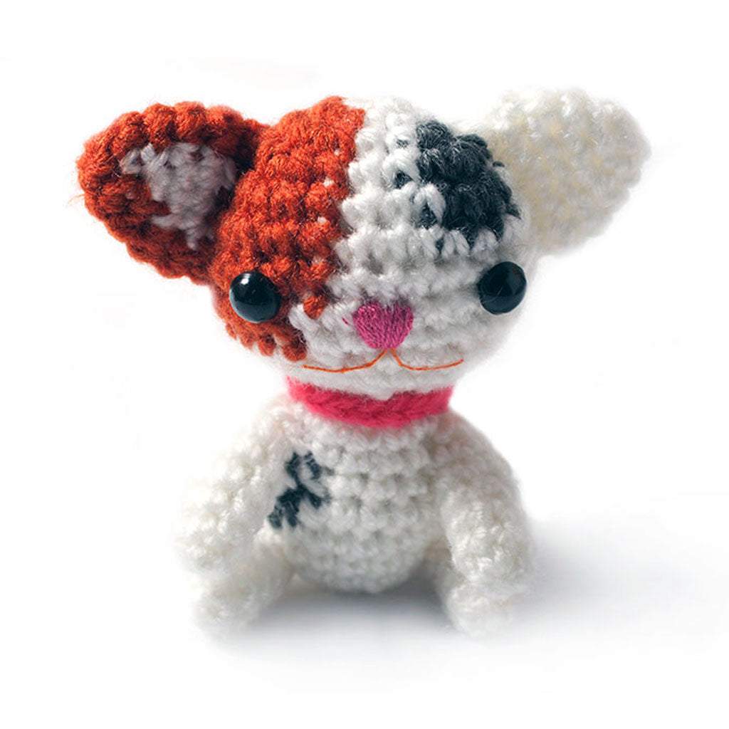 Tricolor Kittens Handmade Amigurumi Stuffed Toy Knit Crochet Doll VAC