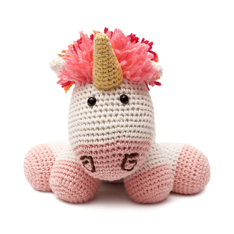 Multicolor Unicorn Handmade Amigurumi Stuffed Toy Knit Crochet Doll VAC