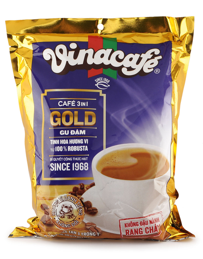 3 in 1 Gold Rich Blend Vietnamese Coffee VinaCafe 24 Bags x 20 gr Instant Coffee