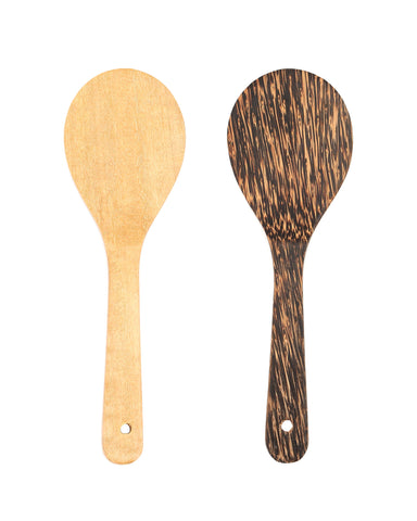 A Handcrafted Coconut Wood Round Mini Spatula - Great Addition To Your Kitchen