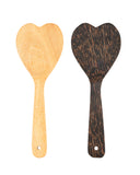 A Handcrafted Coconut Wood Heart-Shape Mini Spatula - Great Addition To Your Kitchen