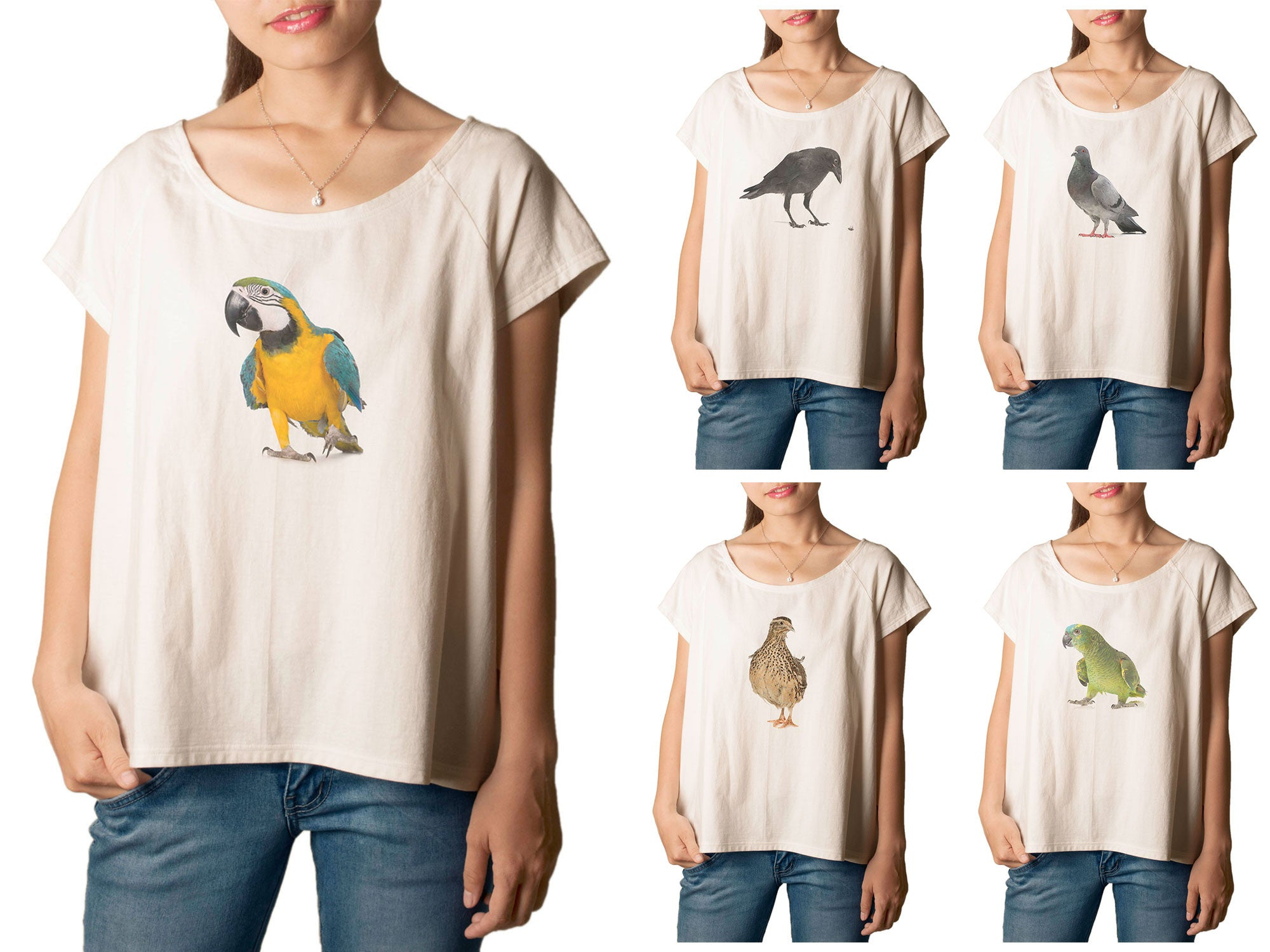 Women's Animal-2 Printed cotton T-shirt  Tee WTS_01