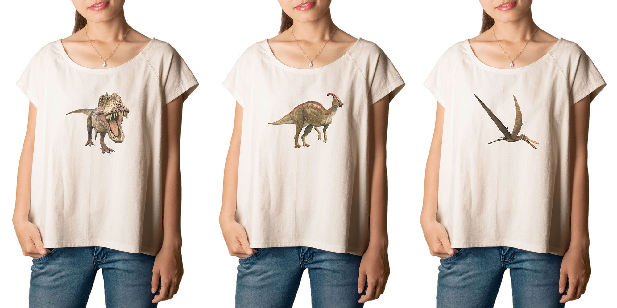Women's Dinosaur 1 Printed cotton T-shirt  Tee WTS_01
