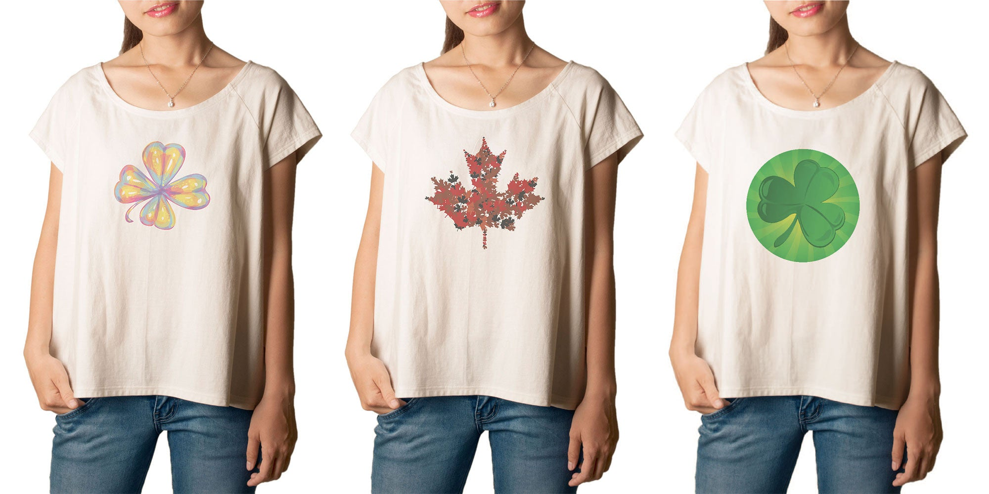 Women Flower and leaf Printed T-shirt WTS_01