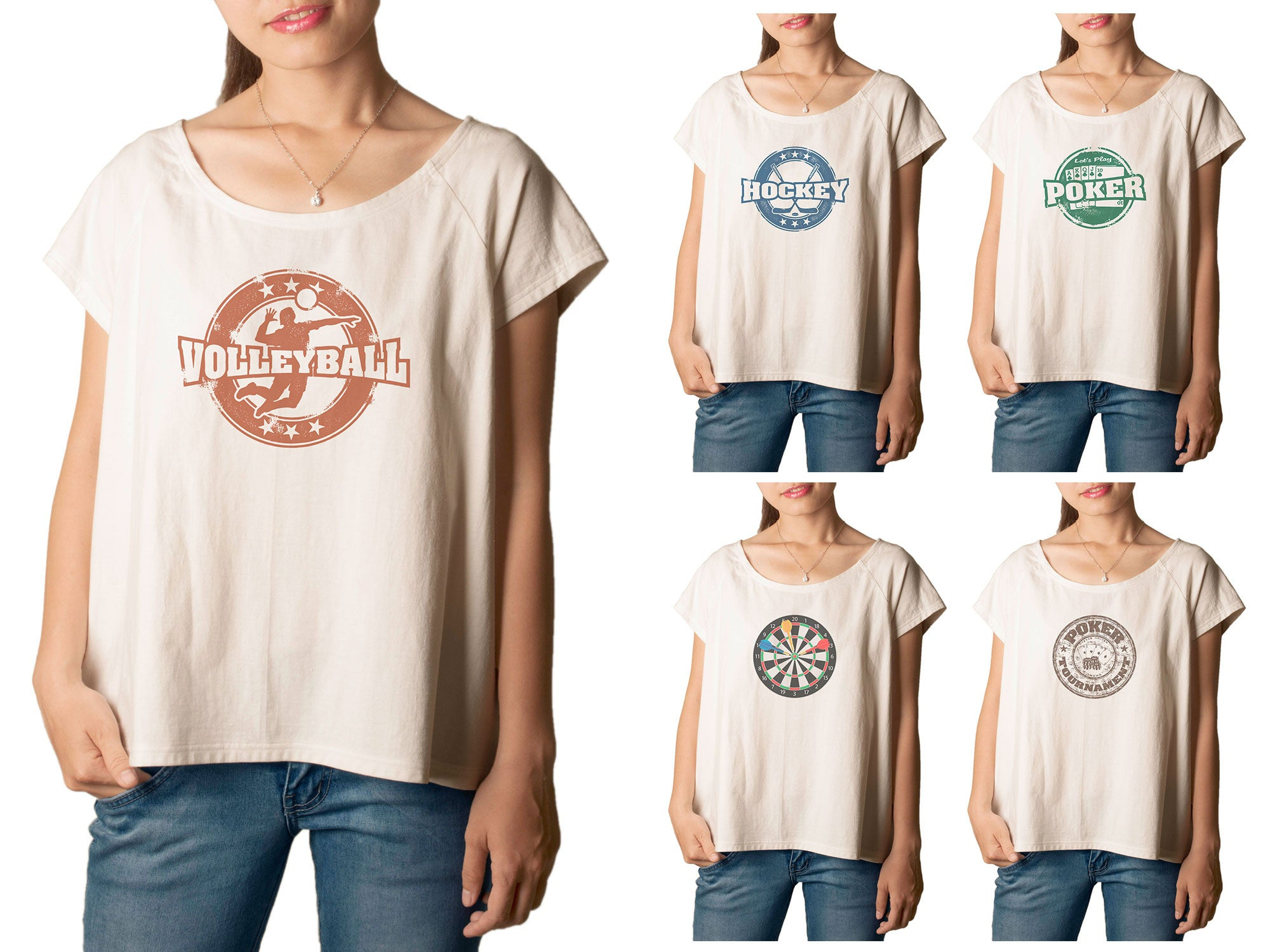 Women's Sport Stamp 1 Printed cotton T-shirt  Tee WTS_01