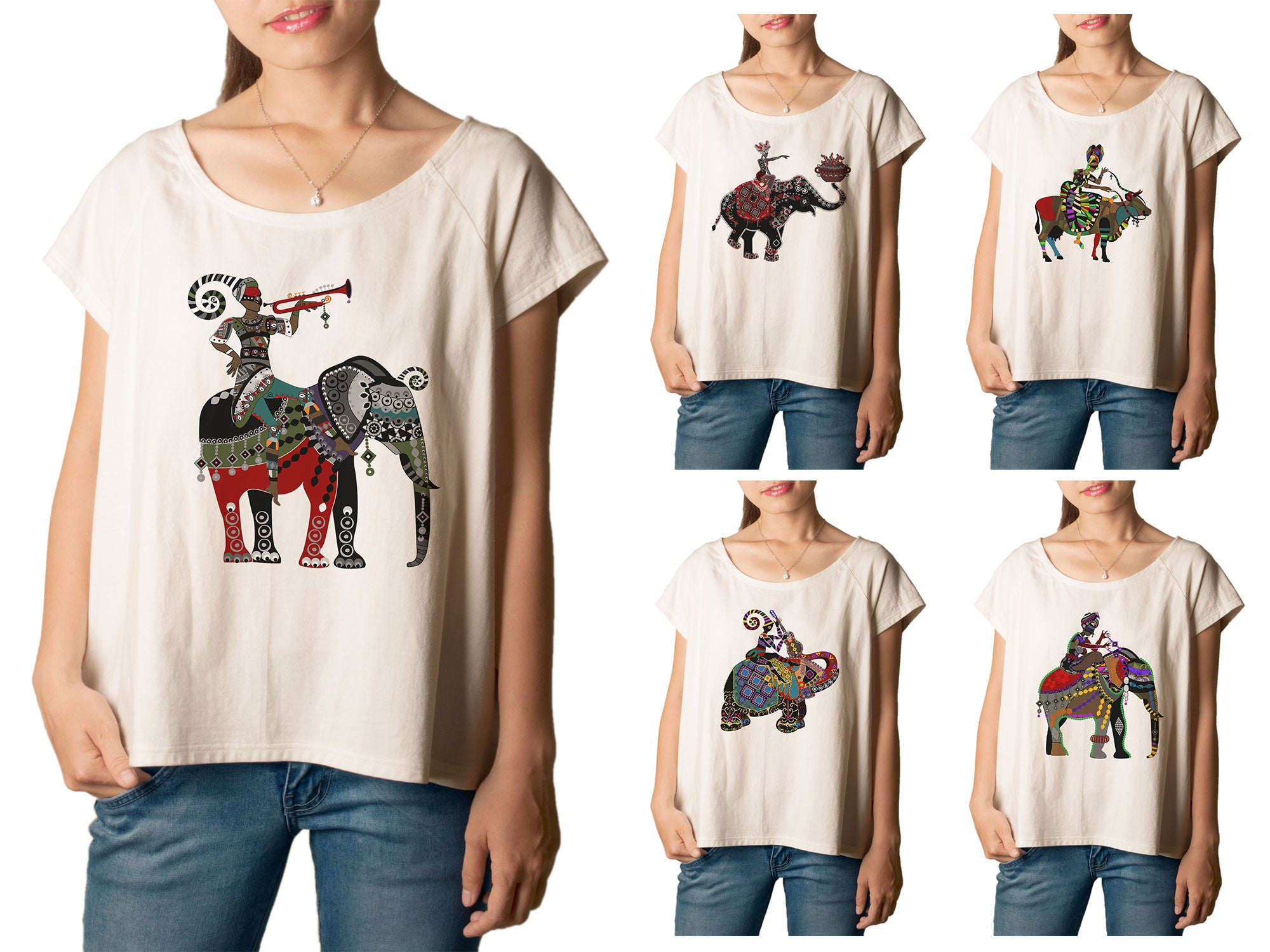 Women's Africa Culture Printed cotton T-shirt  Tee WTS_01