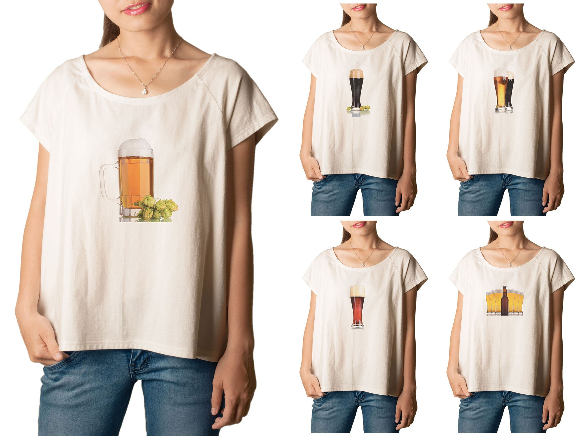 Women Beer Printed T-shirt WTS_01