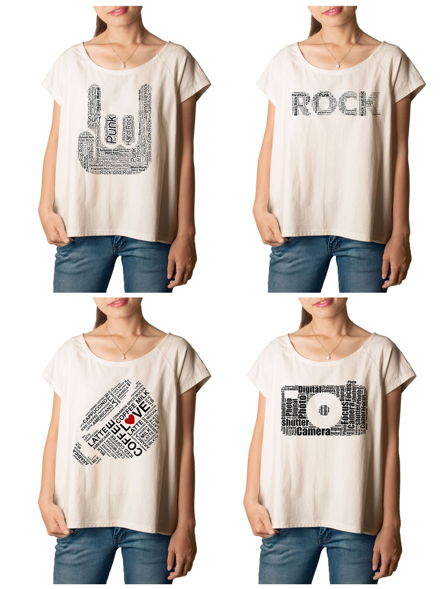 Women's typography Printed cotton T-shirt  Tee WTS_01