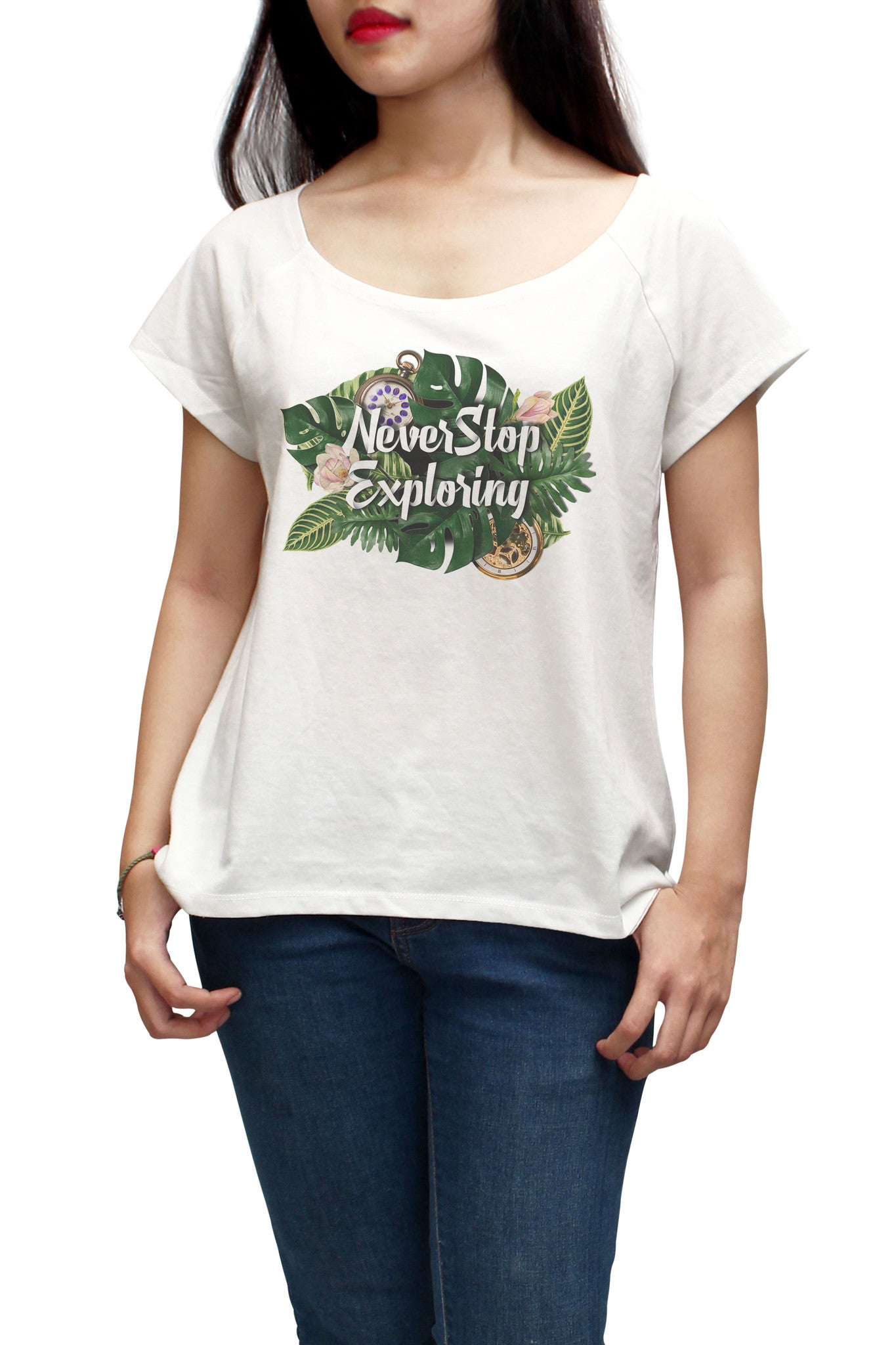 Women Never Stop Exploring Printed Short Sleeves T-shirt WTS_01