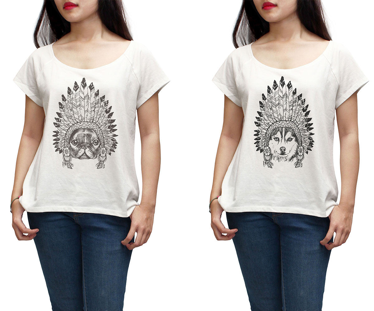 Women Animals wear headdress Printed Short Sleeves T-shirt WTS_01