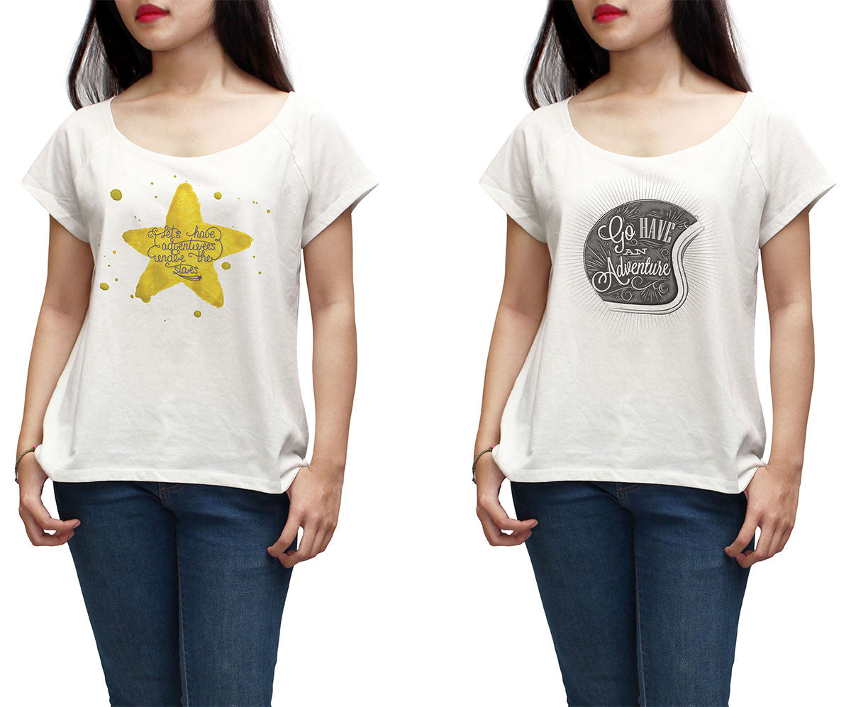 Women Adventure hand draw Printed Short Sleeves T-shirt WTS_01
