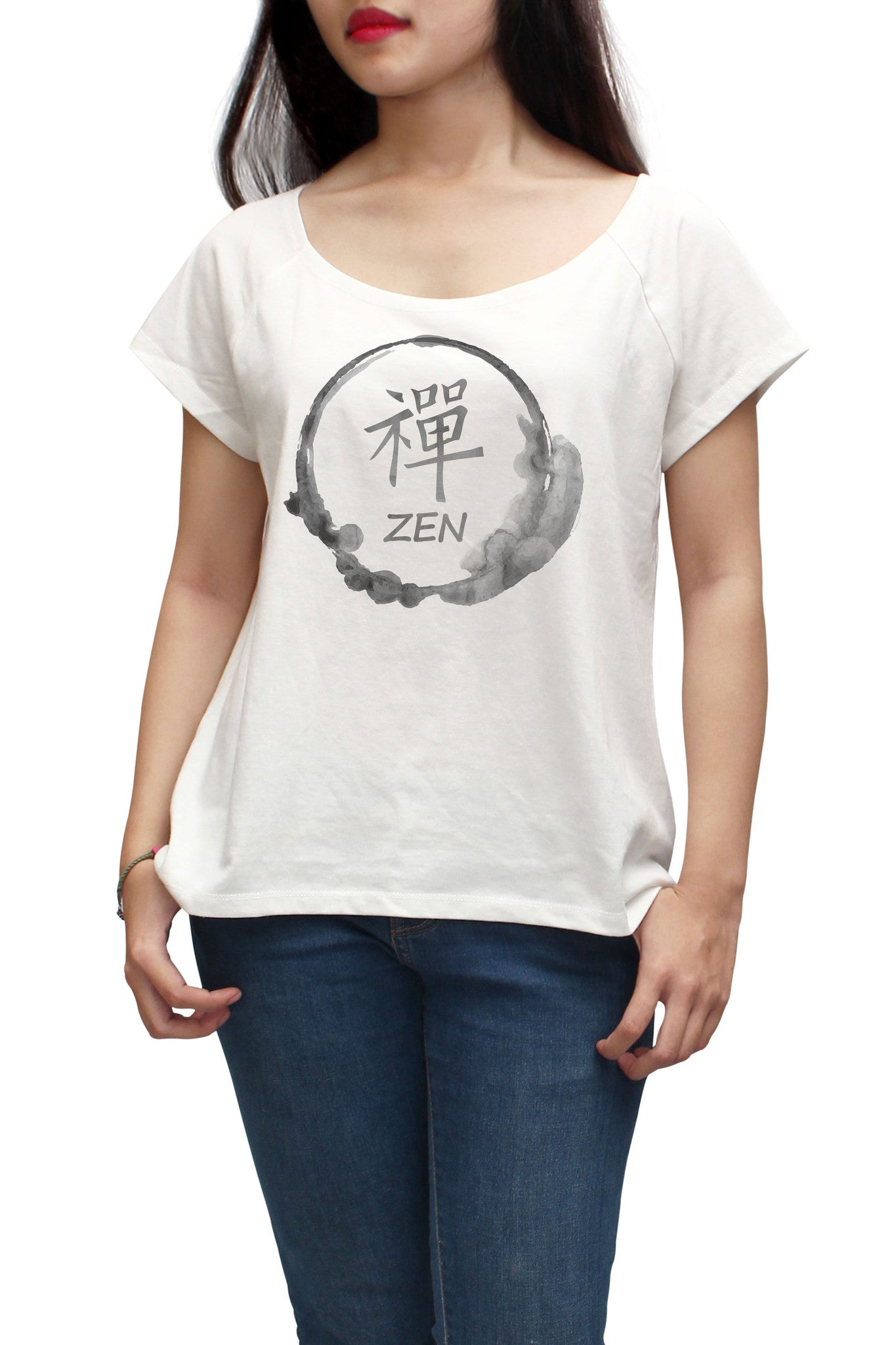 Women Zen Stamp Printed Short Sleeves T-shirt WTS_01