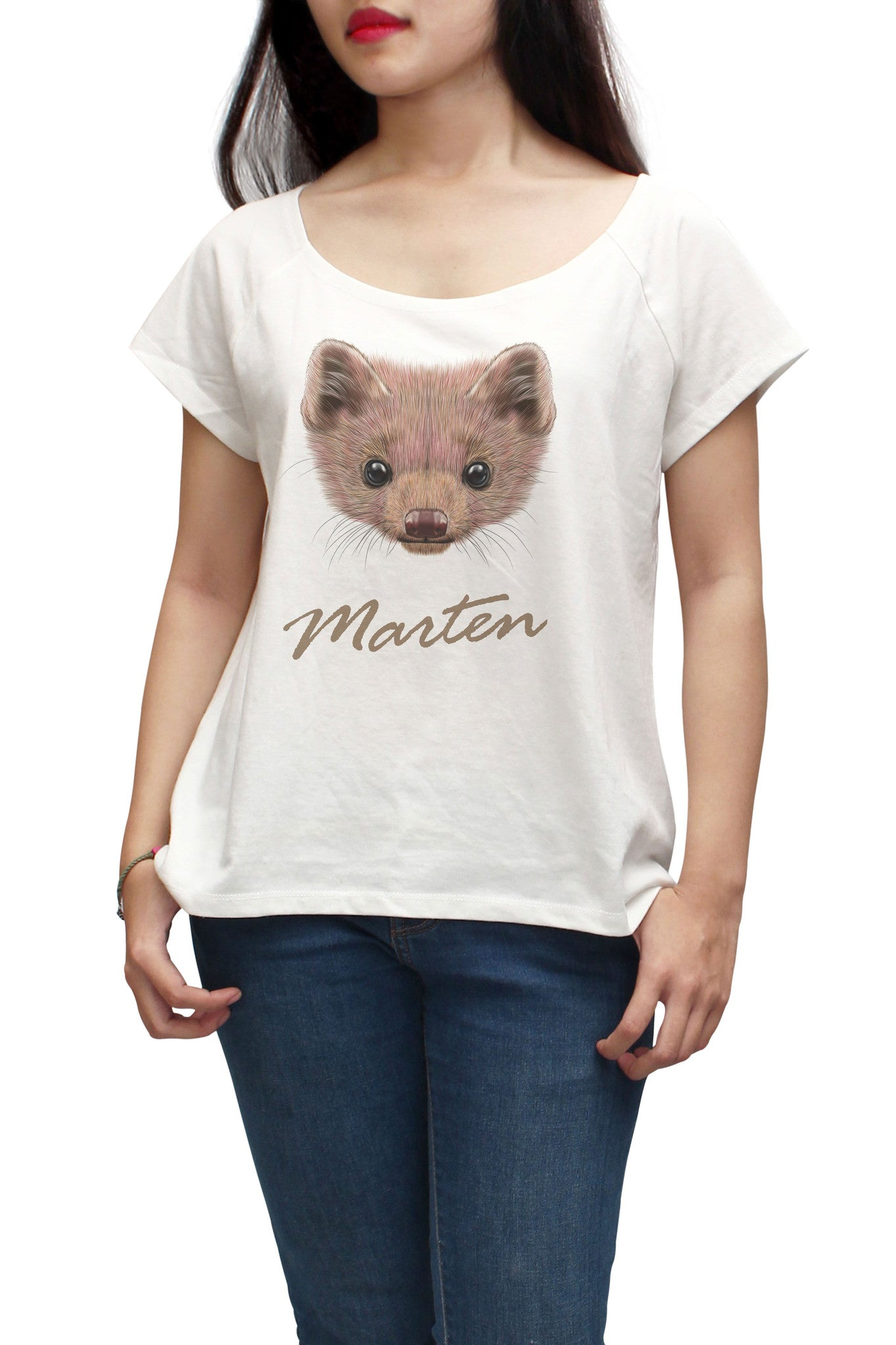 Women Portrait of Marten Printed Short Sleeves T-shirt WTS_01