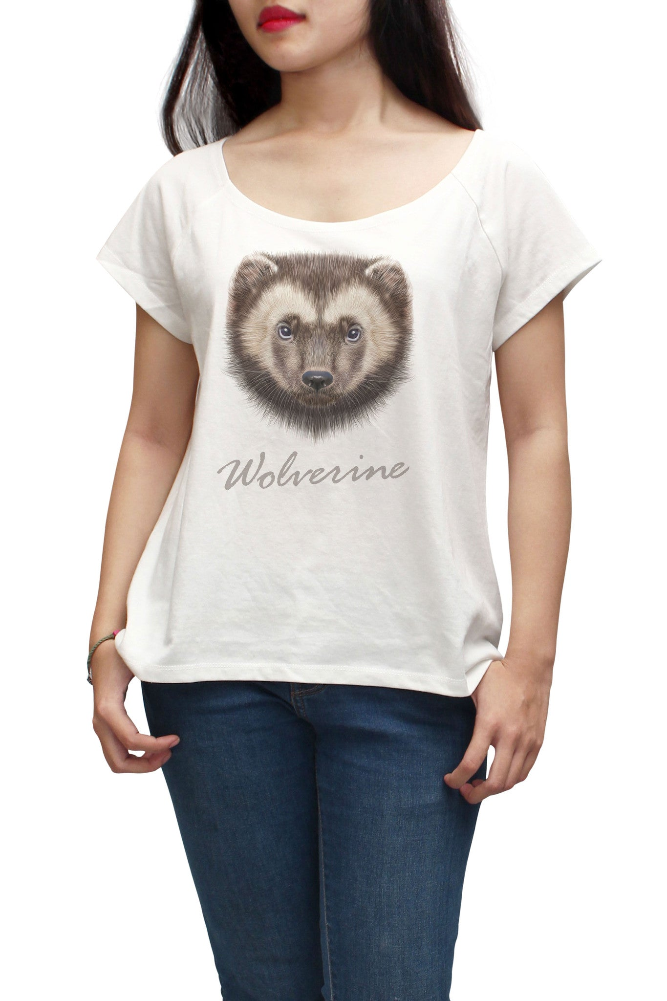 Women Portrait of Wolverine Printed Short Sleeves T-shirt WTS_01