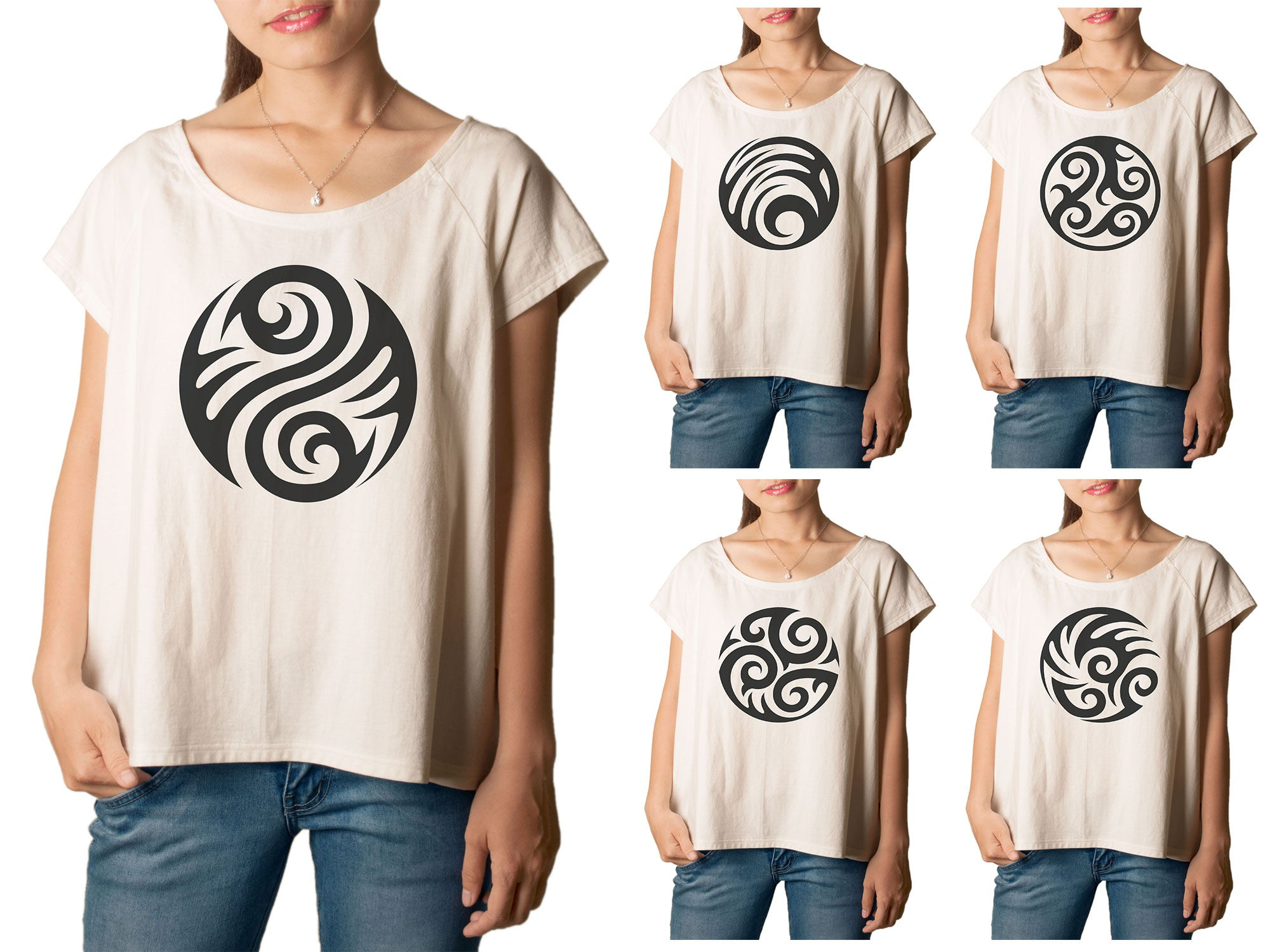 Women's Round Tattoo Printed cotton T-shirt  Tee WTS_01