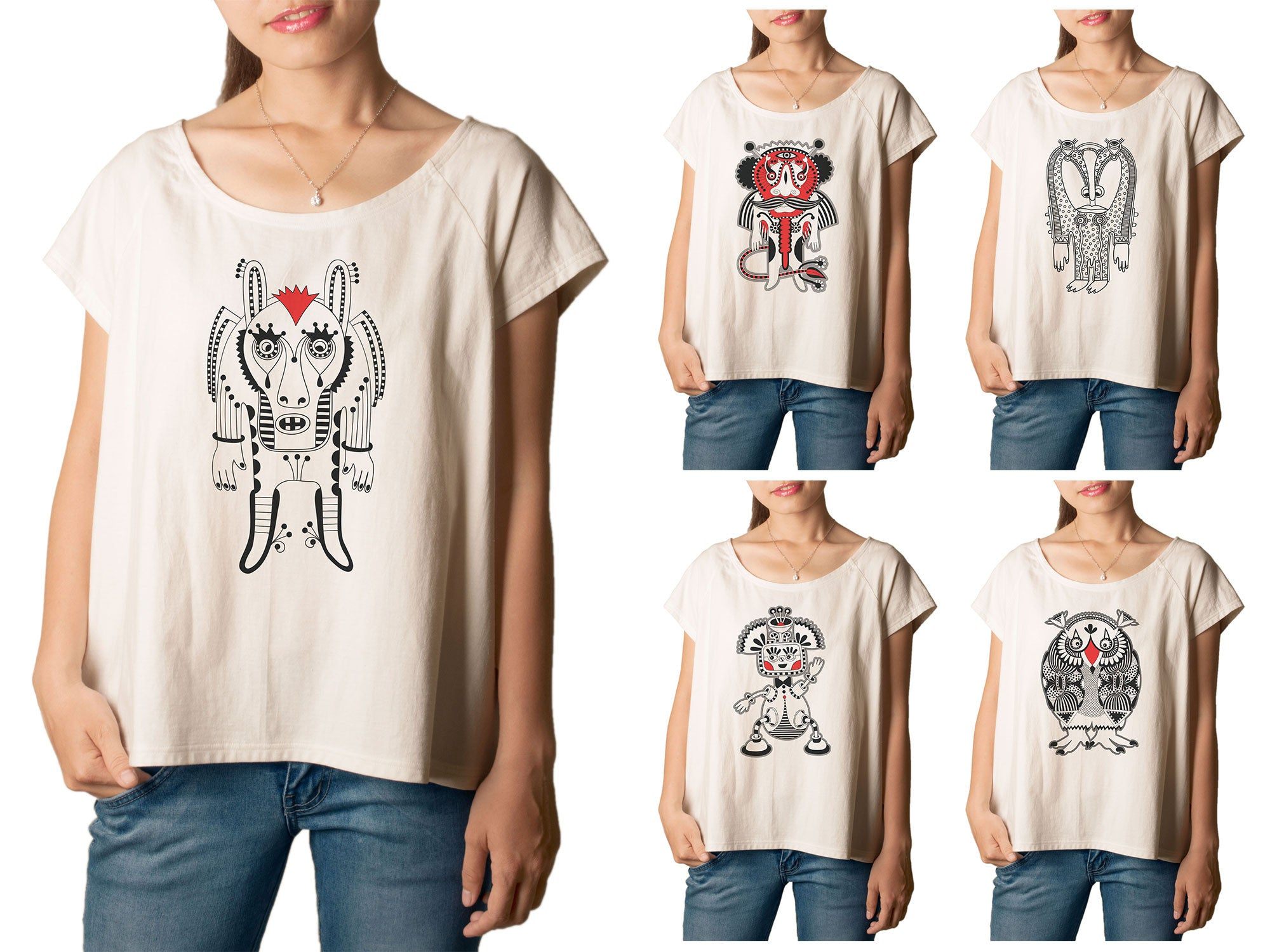 Women Monster Printed T-shirt WTS_01