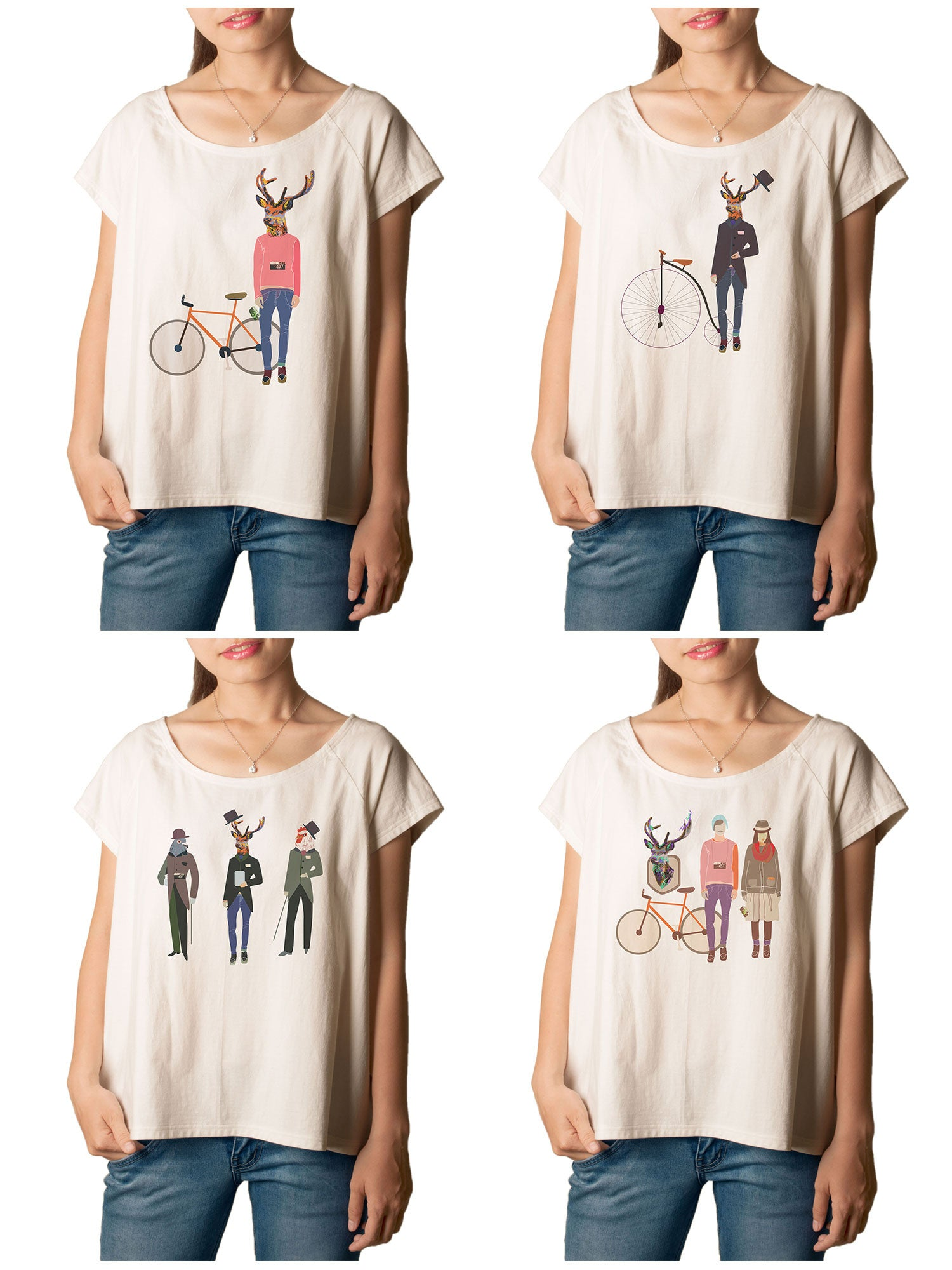 Women  Hipster Printed T-shirt WTS_01