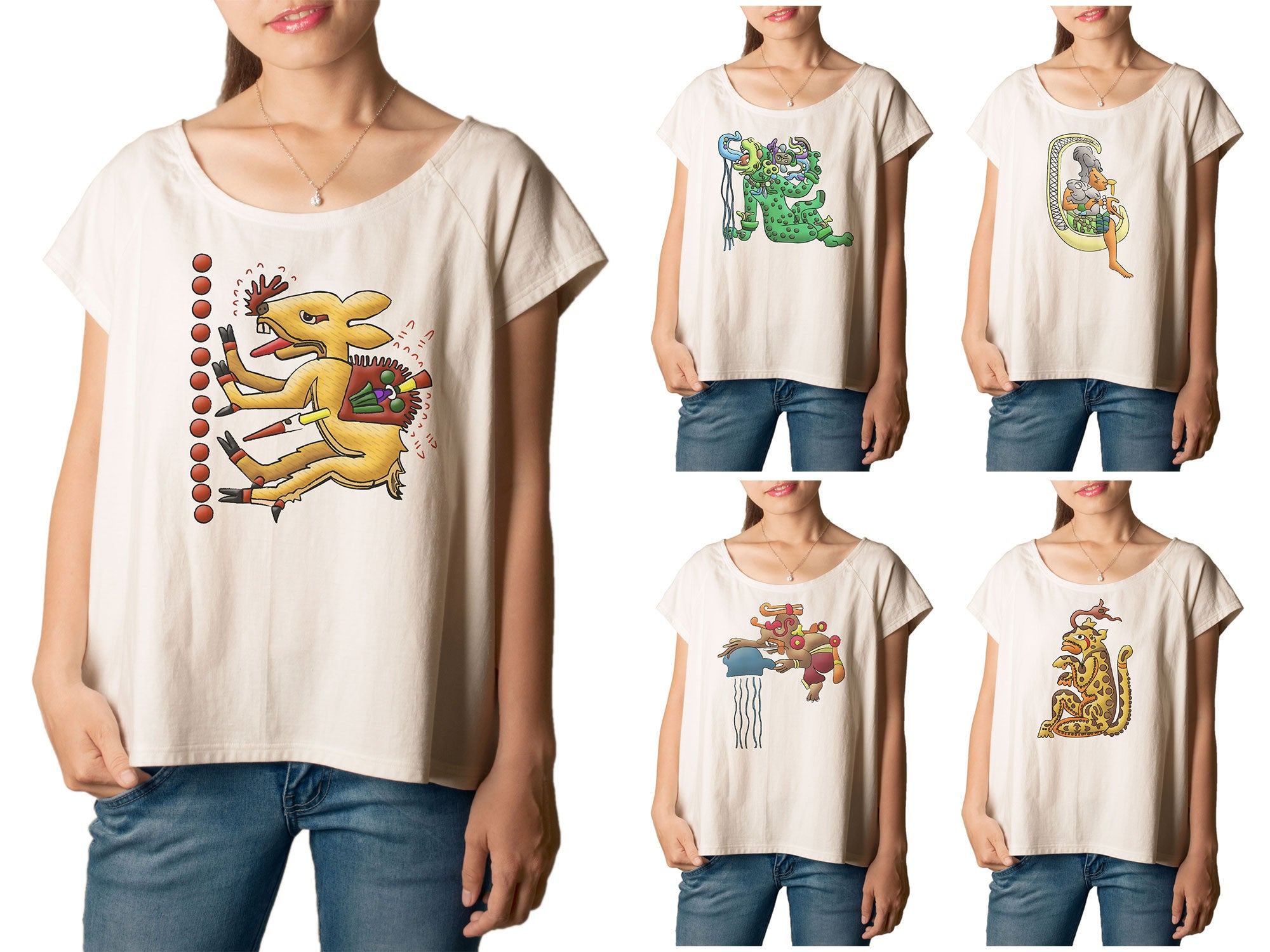 Women Set of Mayan - Aztec 2 Printed T-shirt WTS_01