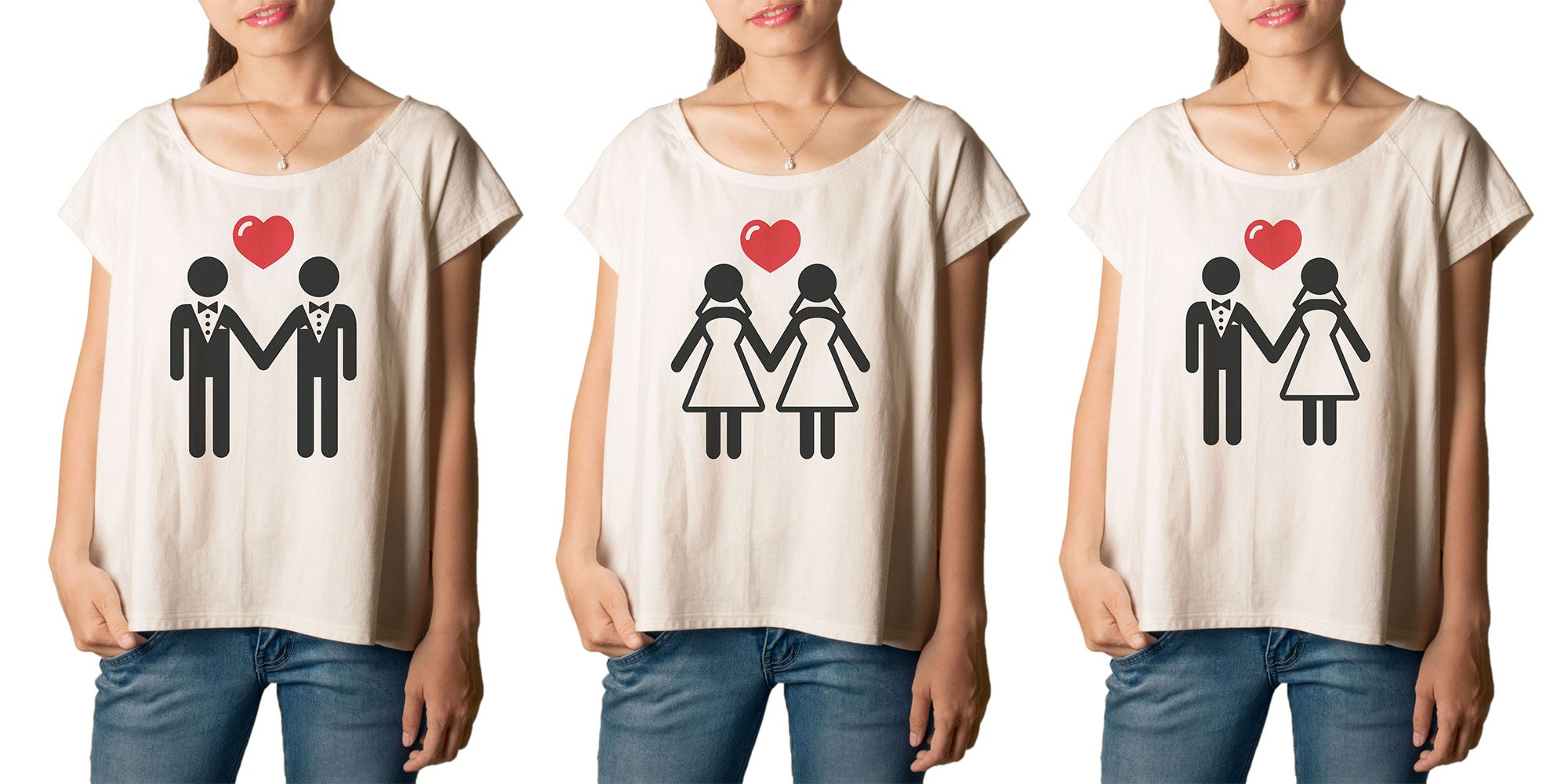 Women's  Gay Marriage Printed cotton T-shirt  Tee WTS_01