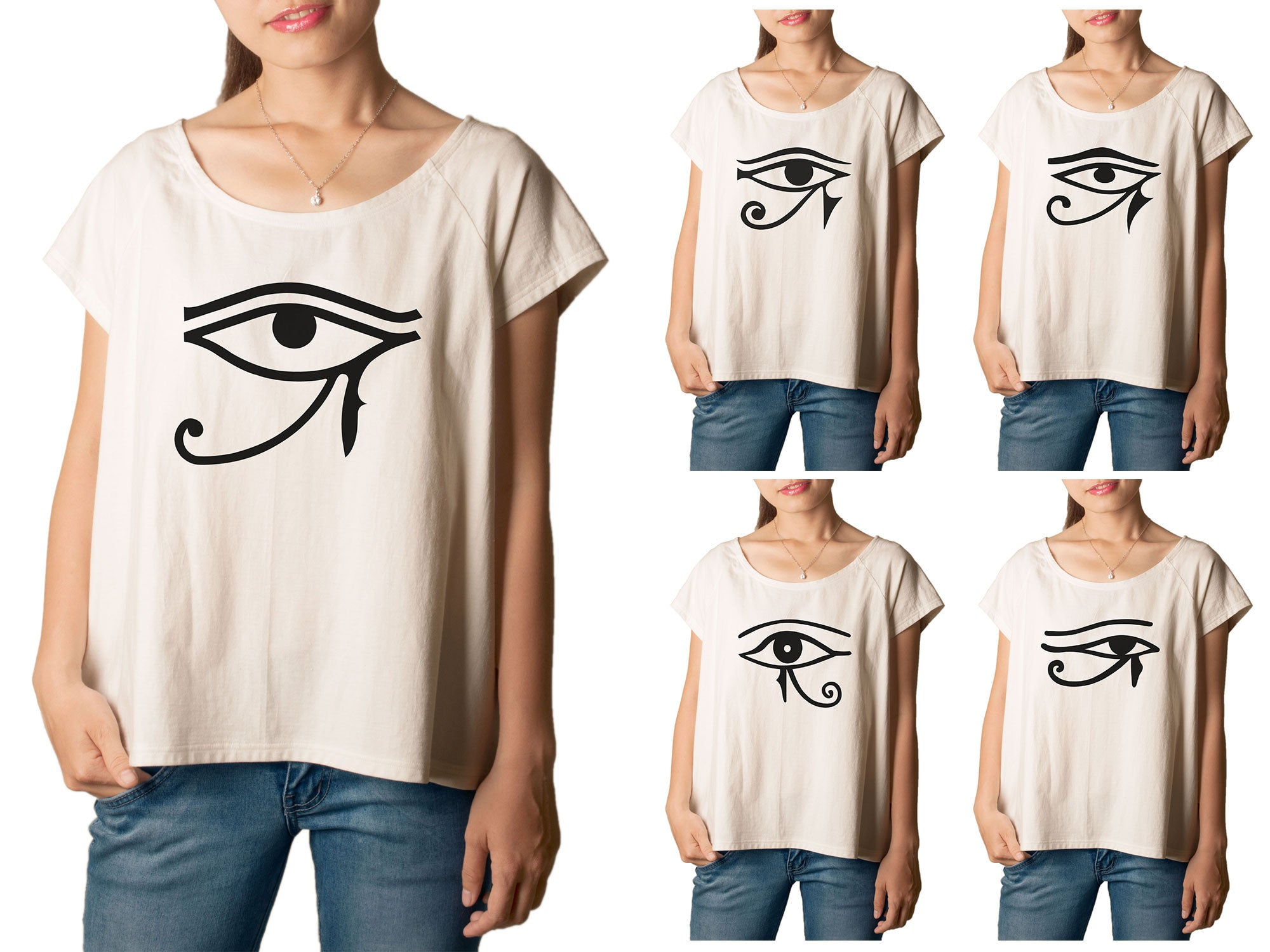 Women's Sun Eye of Horus Printed cotton T-shirt  Tee WTS_01