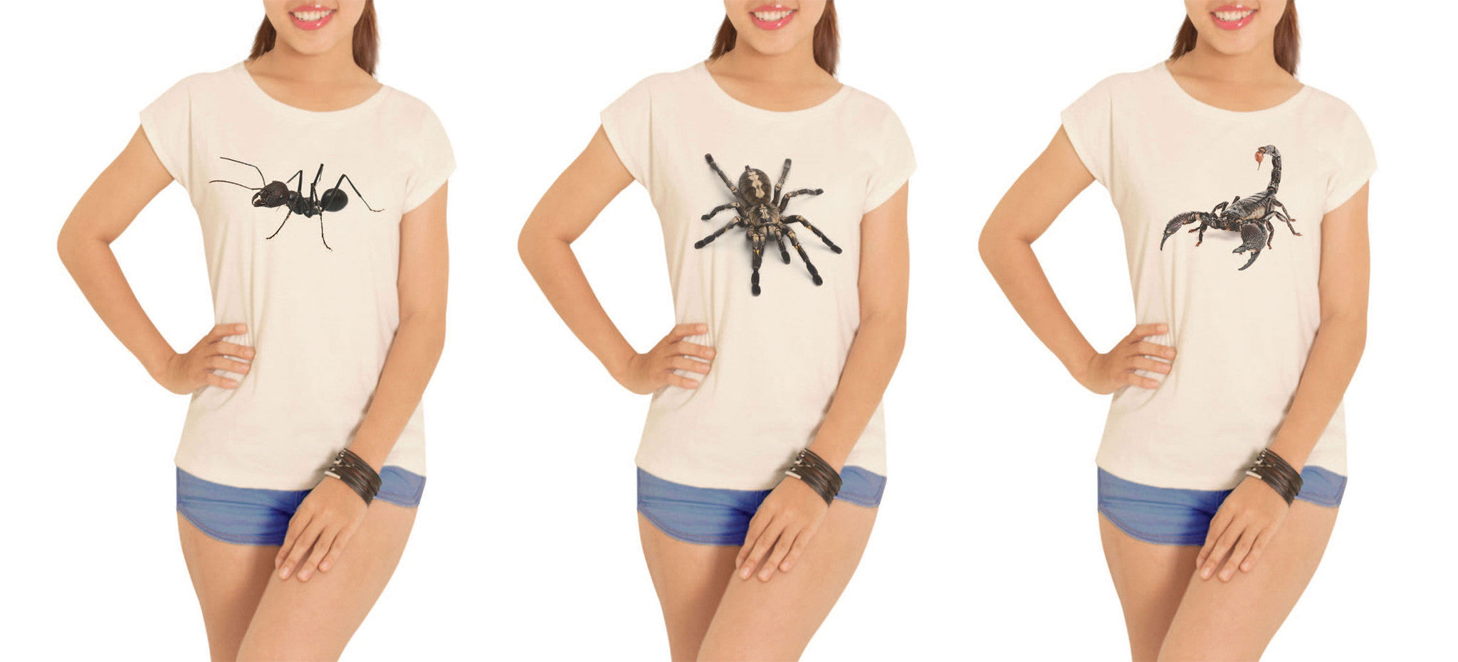 Women Animal-3 Printed Cotton Short Sleeves T- Shirt WTS_02