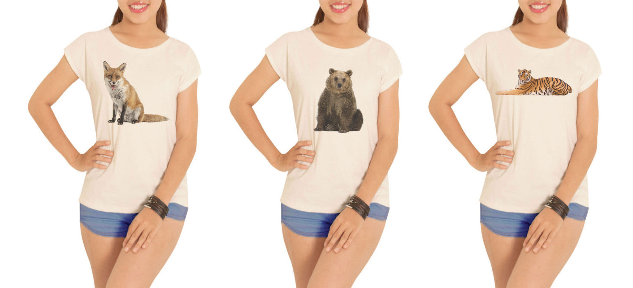 Women Animal-7 Printed Cotton Short Sleeves T- Shirt WTS_02