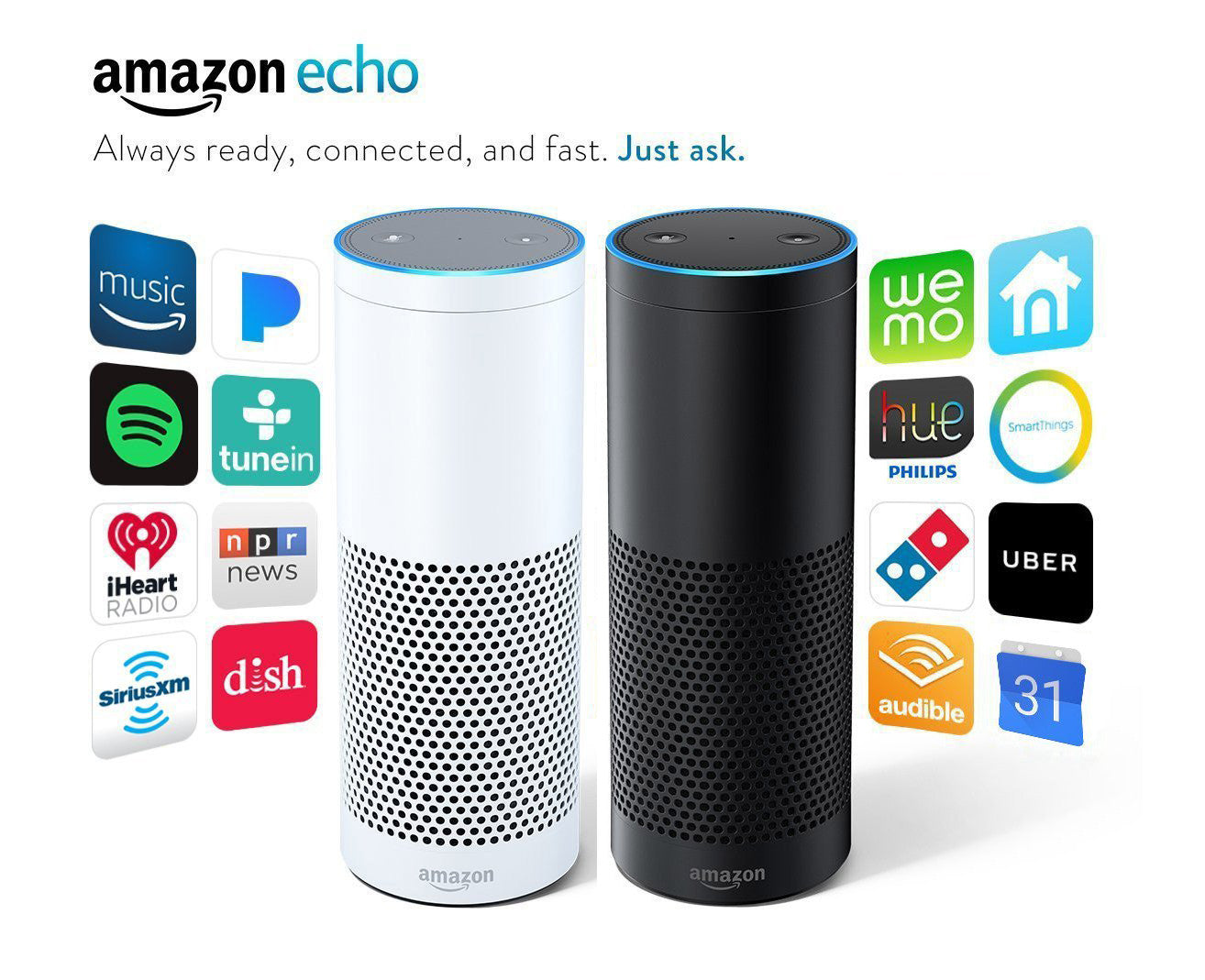 Amazon Echo Alexa - Black or White Speaker Personal Assistant HCMC