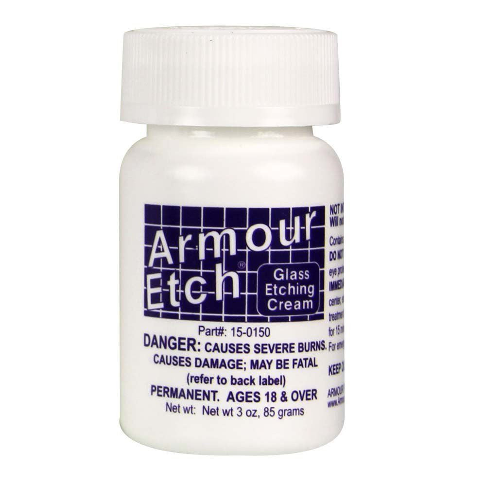 Armour Products Etch Glass Etching Cream Compound 3 oz, 10 oz, 22 oz