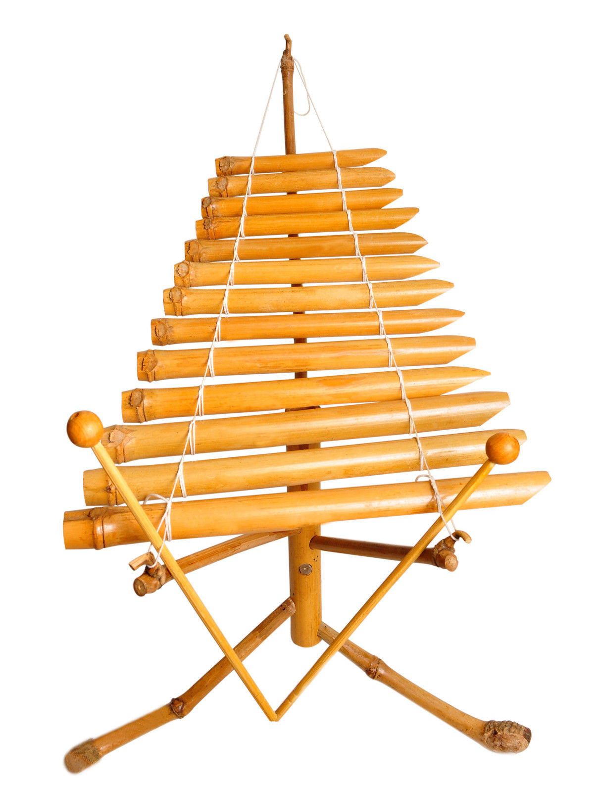 Bamboo Xylophone Vietnamese Traditional Instrument mini T'rung Fair Trade