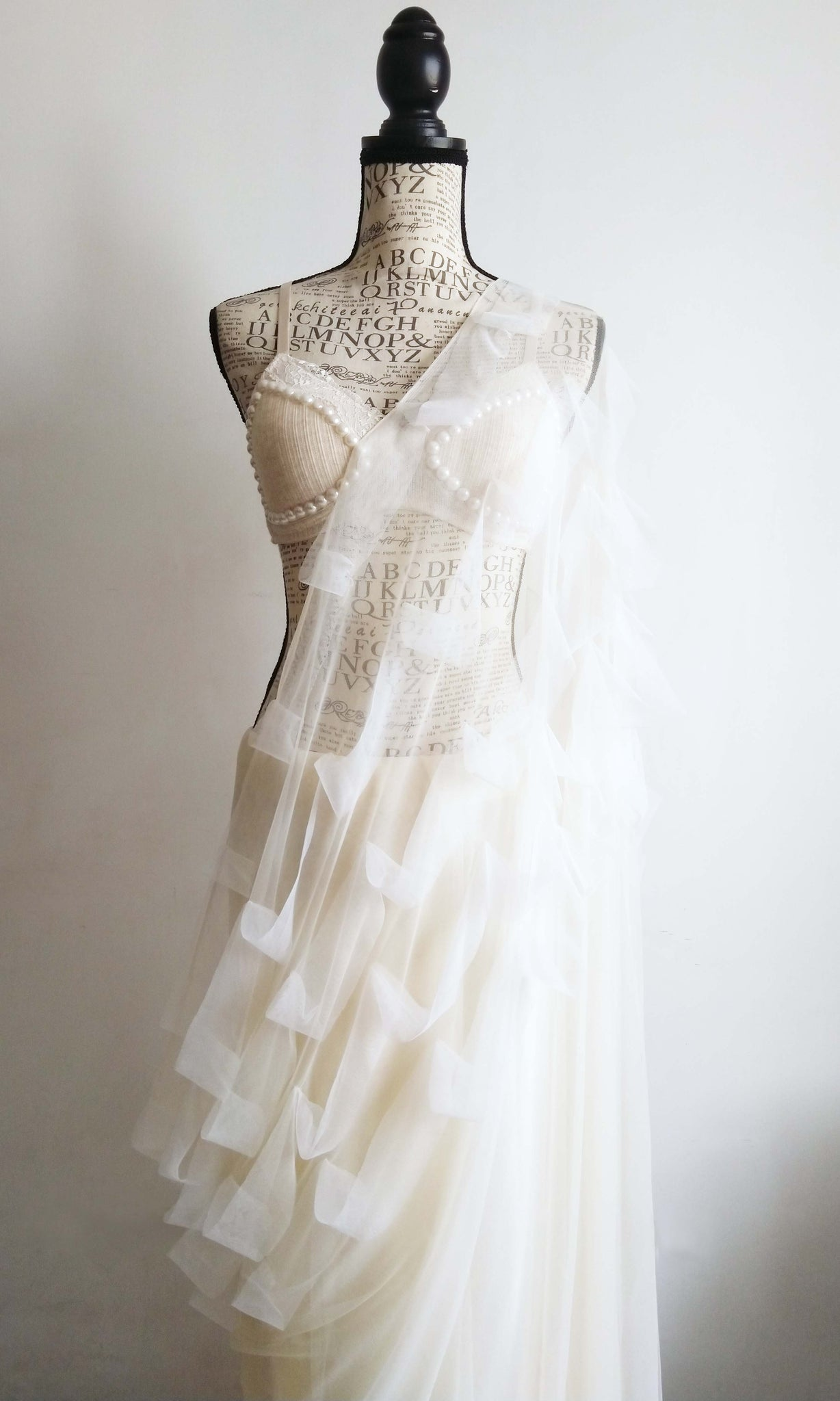 g48 Embryo Sari I Hand Woven & Screen Printed Soft Muslin Cotton-By-Cotton