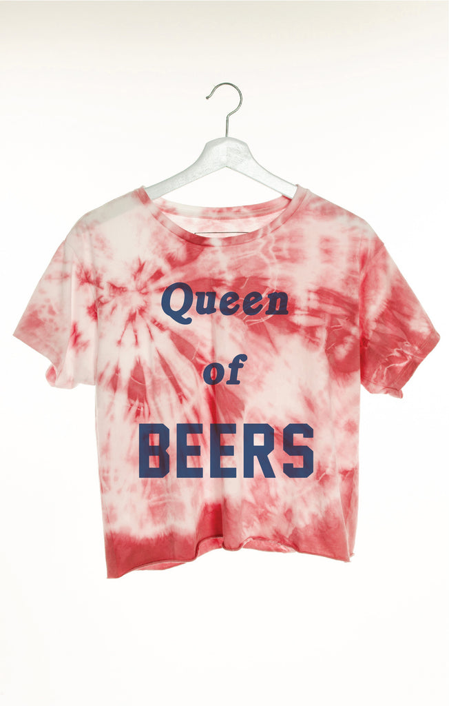 Queen Of Beers Classic Crop Tee by The Laundry Room