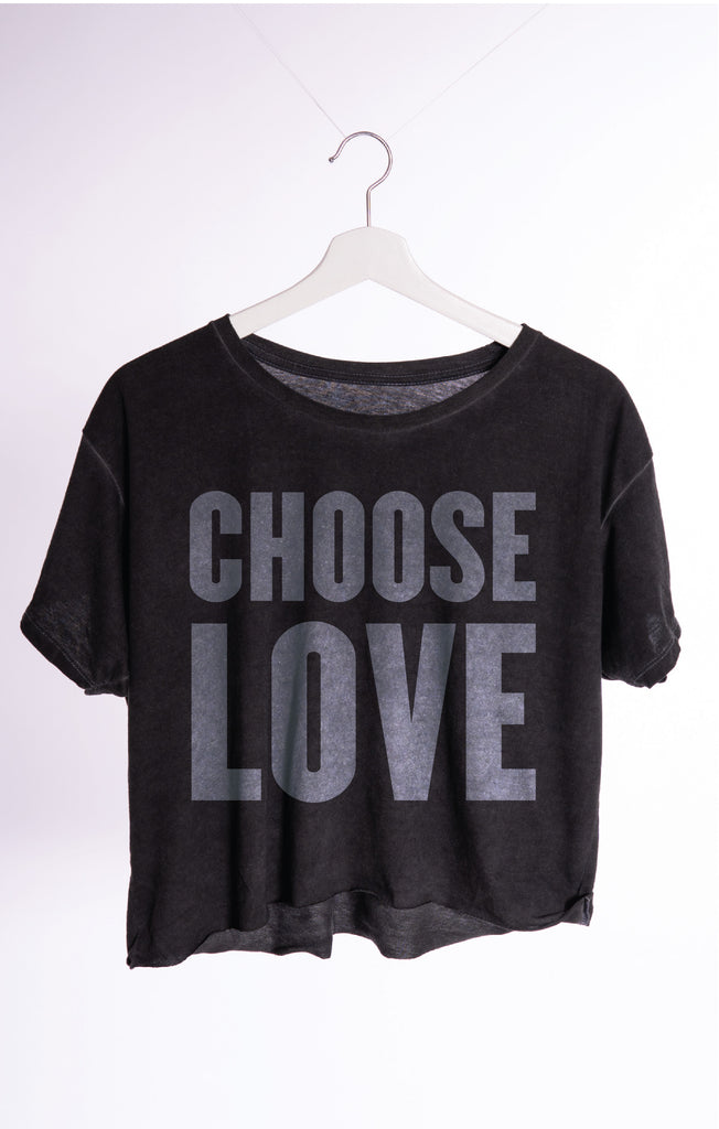 Choose Love Classic Crop Tee by The Laundry Room