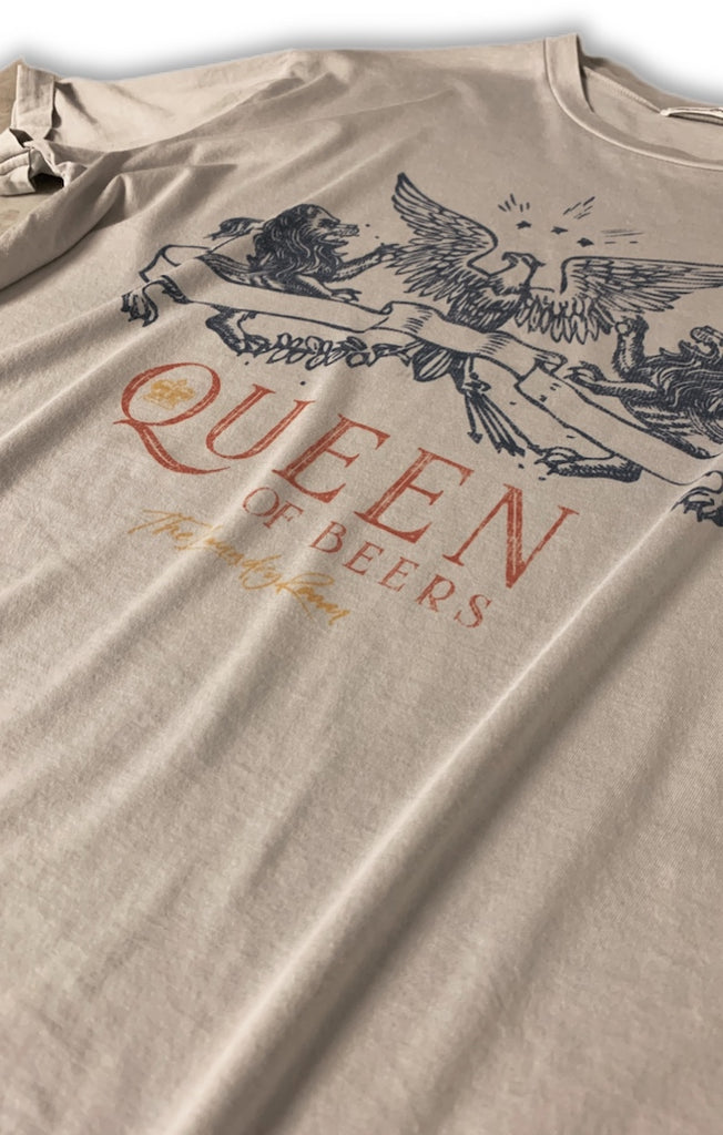 Queen Of Beers Oversized Tee - Star Dust