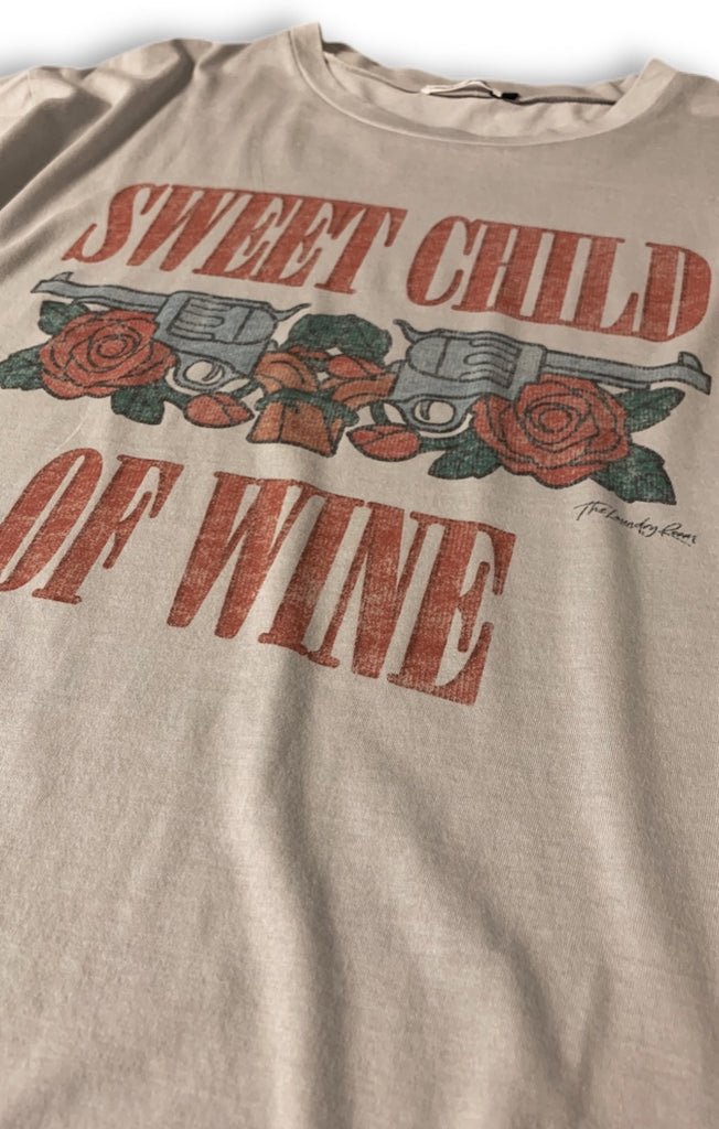 Sweet Child Of Wine Oversized Tee - Star Dust - The Laundry Room
