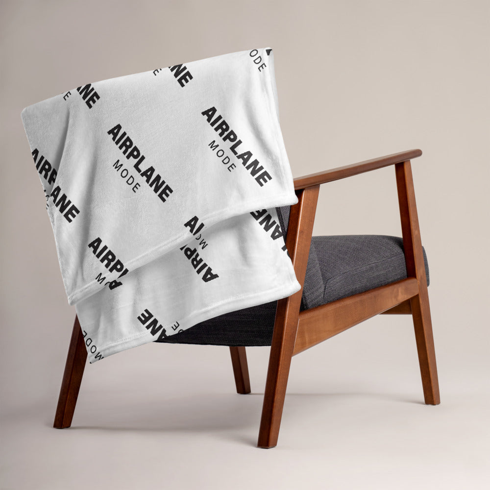 Airplane Mode Print -  Blanket - The Laundry Room