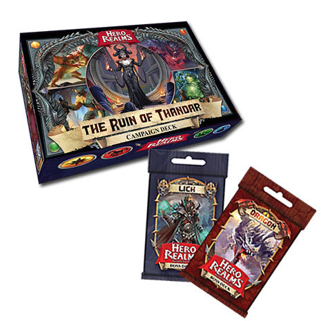 Hero Realms. La Perdición de Thandar  + Set Mazos de Jefe