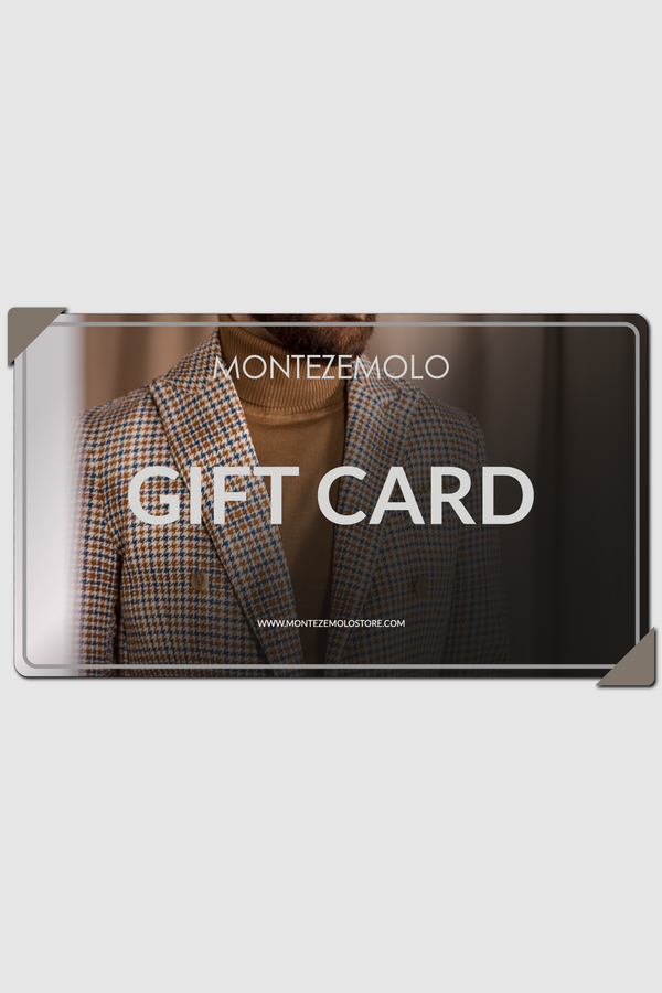 MONTEZEMOLO Men's Clothing - Gift Card - E-Gift Card by EMAIL - www.montezemolostore.com