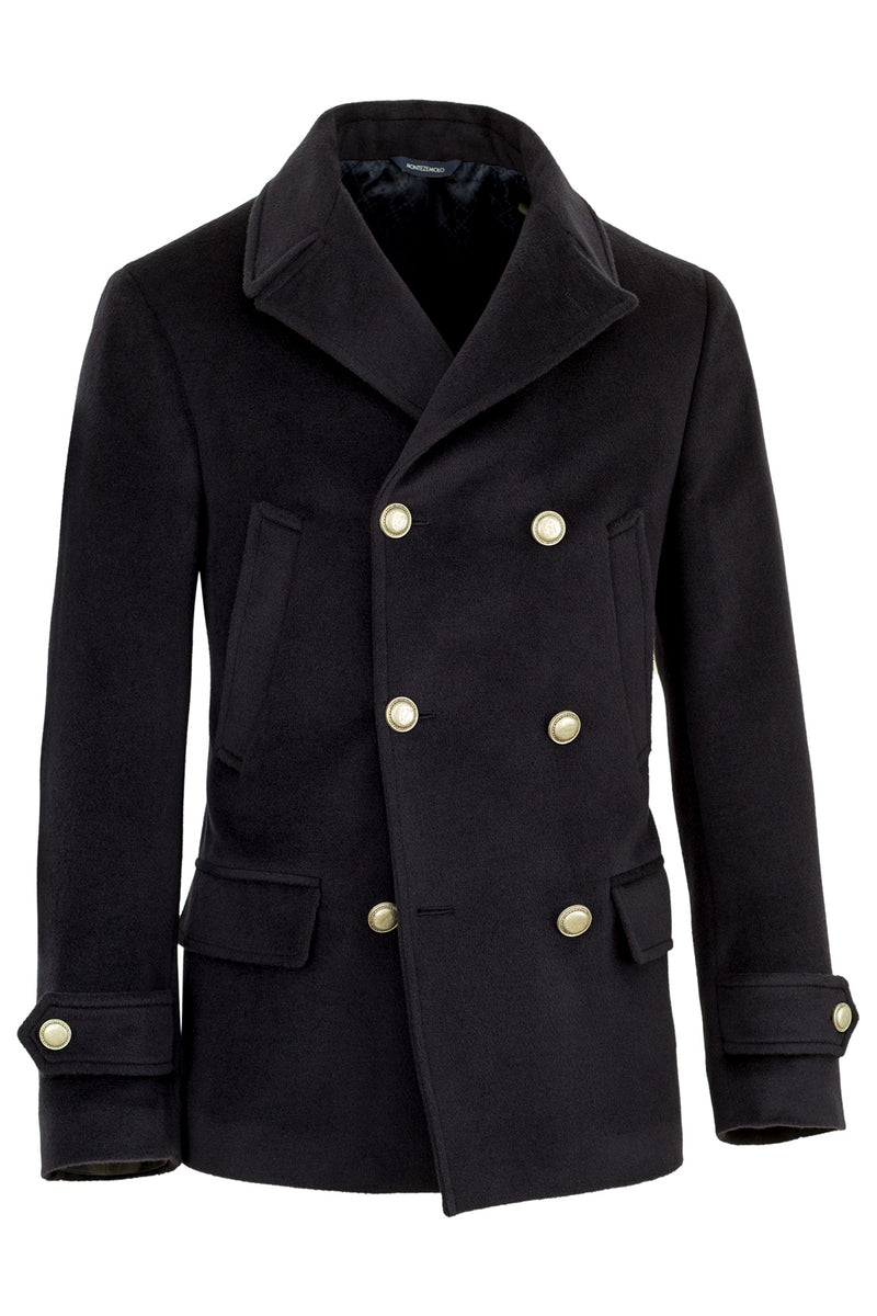 Blue Wool & Cashmere Peacoat
