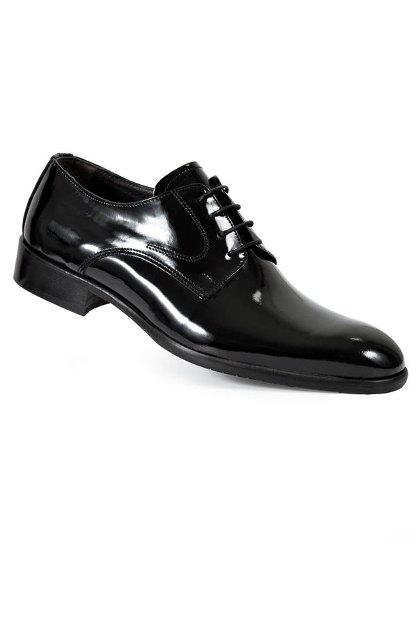 MONTEZEMOLO Men's Clothing - Lace Up Shoes - Black Patent Leather Shoe - www.montezemolostore.com