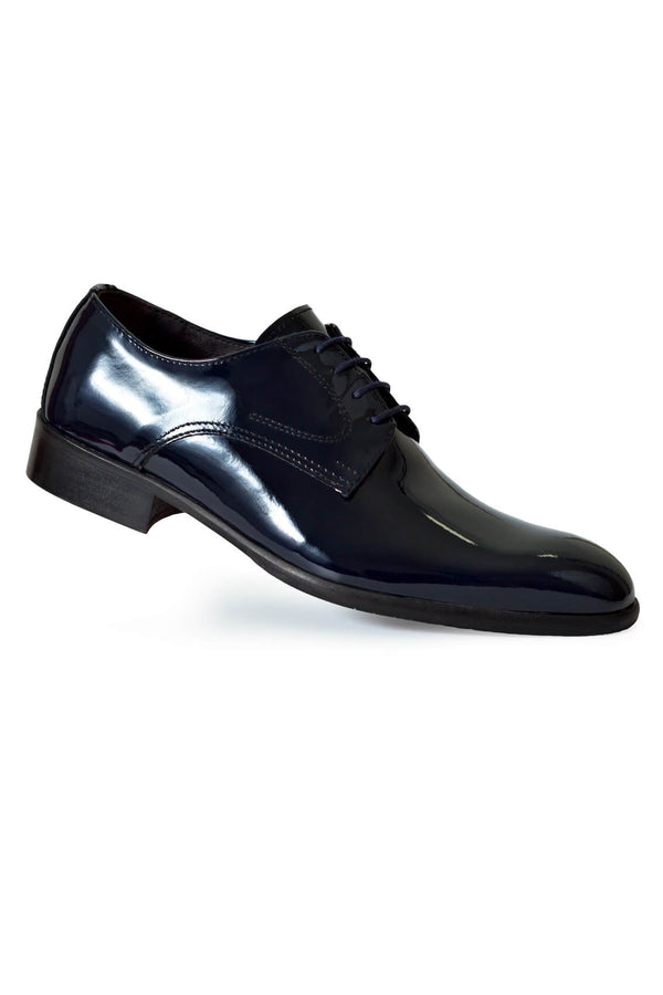 MONTEZEMOLO - Lace Up Shoes - Blue Patent Leather Shoe - MONTEZEMOLO