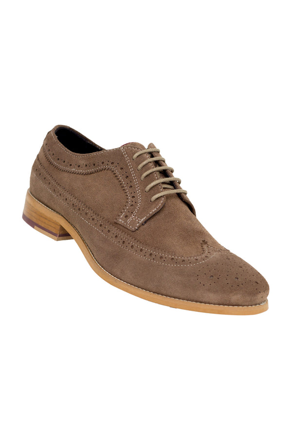 MONTEZEMOLO - Lace Up Shoes - Dovetail Suede Derby - MONTEZEMOLO